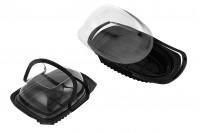 Συσκευασία (σκεύος) πλαστική 318x226x115 mm με χερούλι και καπάκι -12 τμχ