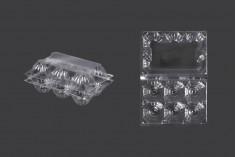 Αυγοθήκες πλαστικές 6 θέσεων με διαστάσεις 145x100x64 mm - 100 τμχ