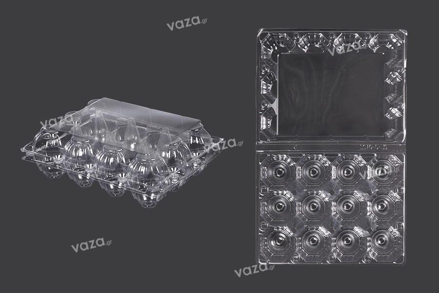 Αυγοθήκες πλαστικές 12 θέσεων με διαστάσεις 193x145x60 mm - 100 τμχ