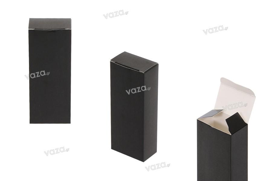 Κουτί για μπουκαλάκι αρωμάτων 50 ml σε μαύρο γυαλιστερό χρώμα με διαστάσεις 53x32x140 - 50 τμχ