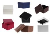 Boîte en papier 86x92x56 mm en différentes couleurs - 6 pièces