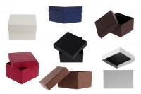 Κουτάκι χάρτινο 86x92x56 mm σε διάφορα χρώματα - 6 τμχ