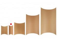 Κουτάκι χάρτινο 200x90x40 mm από χαρτί κραφτ σε σχήμα μαξιλάρι - 20 τμχ