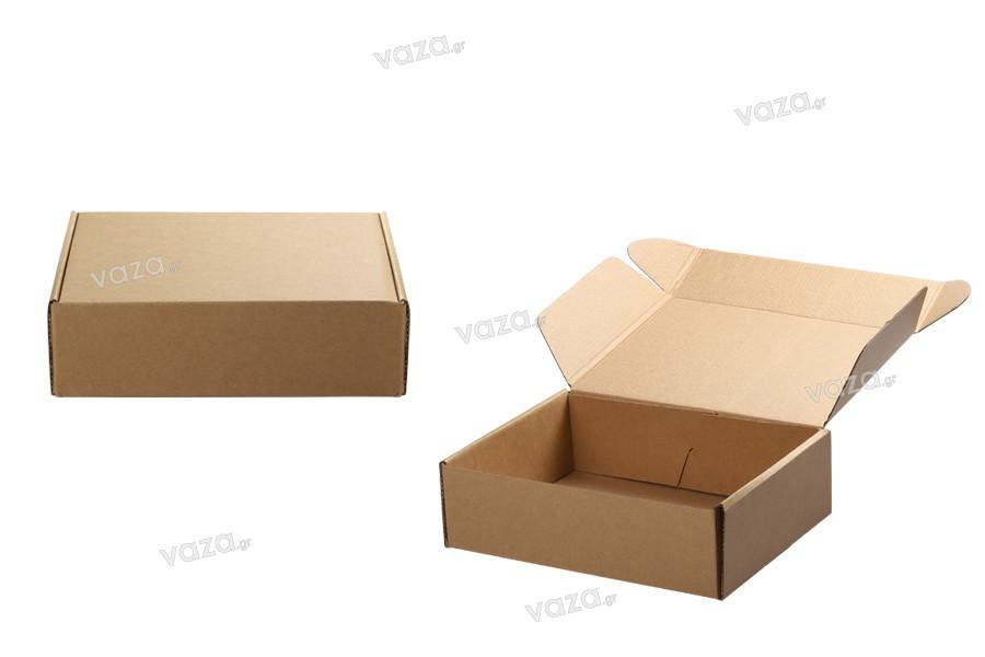 Κουτί συσκευασίας από χαρτί κραφτ χωρίς παράθυρο 240x180x70 mm - 20 τμχ