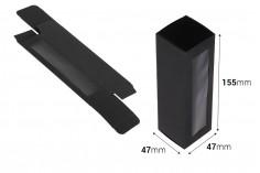 Κουτάκι χάρτινο μαύρο ματ με παράθυρο 47x47x155 - 20 τμχ