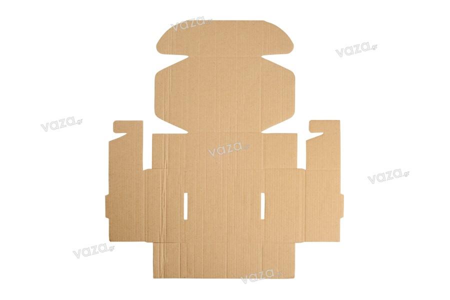 Κουτί συσκευασίας από χαρτί κραφτ χωρίς παράθυρο 130x120x60 mm - Συσκευασία 20 τμχ