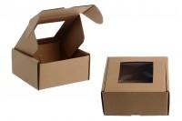 Κουτί συσκευασίας από χαρτί κραφτ με παράθυρο 130x120x60 mm - Συσκευασία 20 τμχ