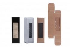 Χάρτινο κουτάκι με παράθυρο για μπουκαλάκι 5ml και 10ml, 25x25x85 - 50 τμχ