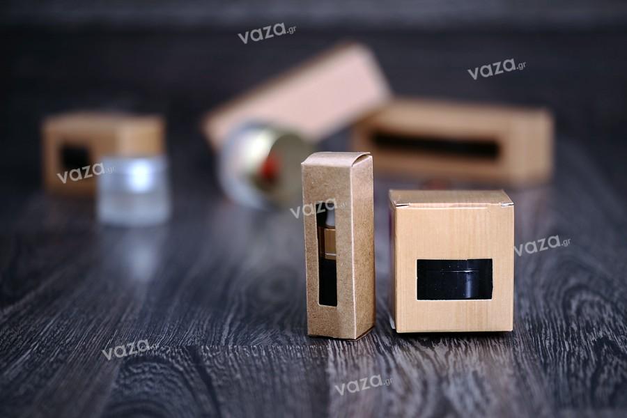 Χάρτινο κουτάκι με παράθυρο 38x38x110 - 50 τμχ