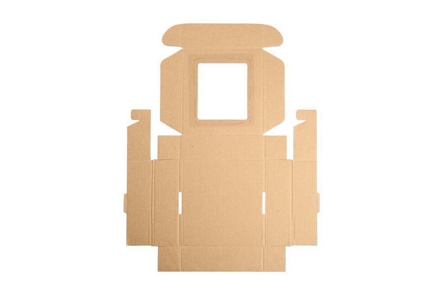 Boîte d'emballage en carton kraft avec fenêtre 170x170x50mm - différentes couleurs -paquet de 20 pièces