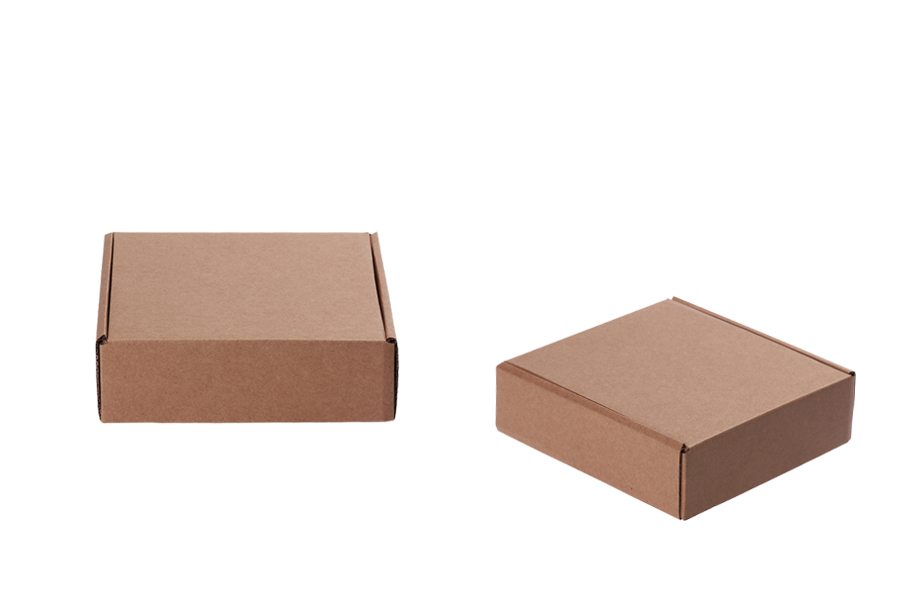 Κουτί συσκευασίας από χαρτί κραφτ χωρίς παράθυρο 170x170x50 mm - Συσκευασία 20 τμχ
