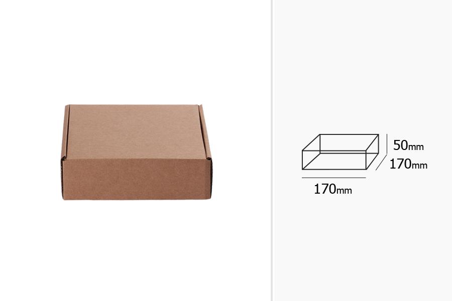 Boîte d'emballage en carton kraft sans fenêtre 170x170x50mm -différentes couleurs -paquet de 20 pièces