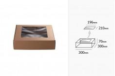 Κουτί συσκευασίας από χαρτί κραφτ με παράθυρο 300x300x70 mm - Συσκευασία 20 τμχ