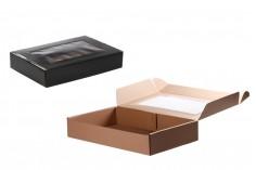 Κουτί συσκευασίας από χαρτί κραφτ με παράθυρο 400x250x70 mm - Συσκευασία 20 τμχ