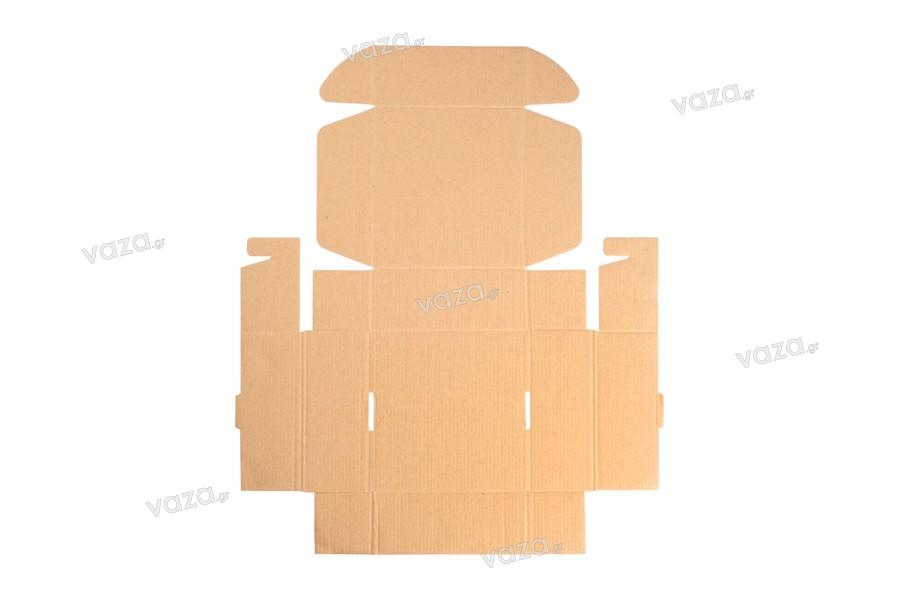 Κουτί συσκευασίας από χαρτί κραφτ χωρίς παράθυρο 180x180x70 mm - Συσκευασία 20 τμχ