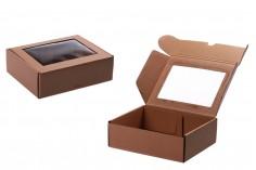 Κουτί συσκευασίας από χαρτί κραφτ με παράθυρο 230x180x70 mm - Συσκευασία 20 τμχ