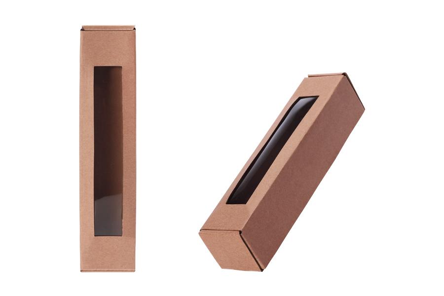 Boîte en carton avec fenêtre 55x55x250 mm - 20 pcs