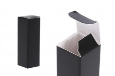 Boîte d'emballage en papier noire 23x23x72mm -paquet de 20 pièces