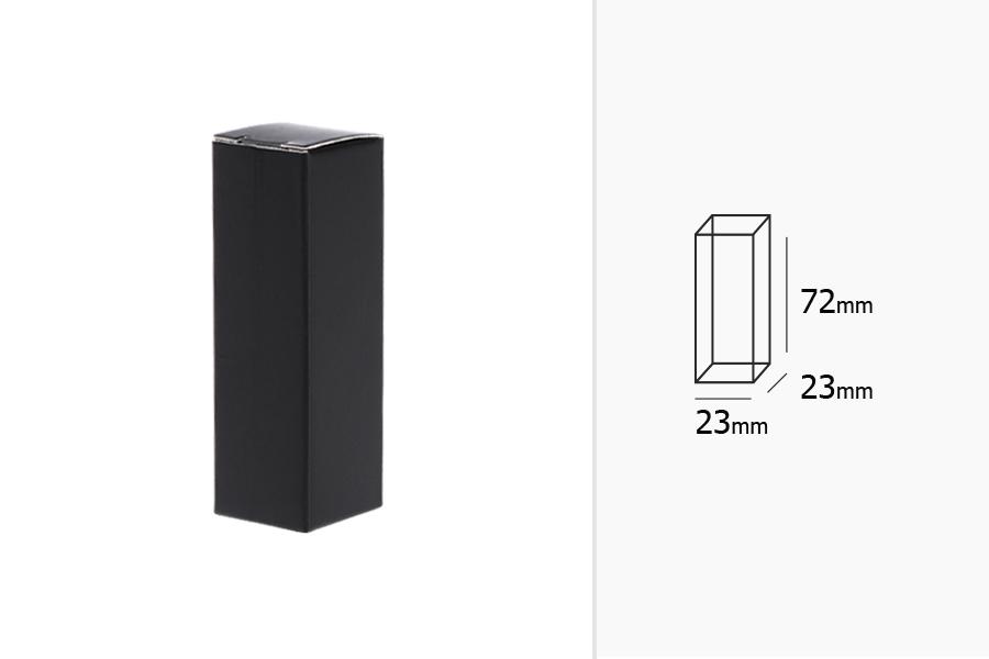 Boîte à papier 23x23x72 mm en noir - 20 pcs