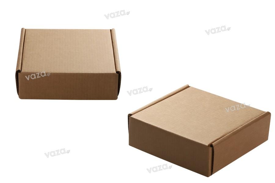 Boîte d' emballage 128x132x45 mm en papier kraft - 20 pièces