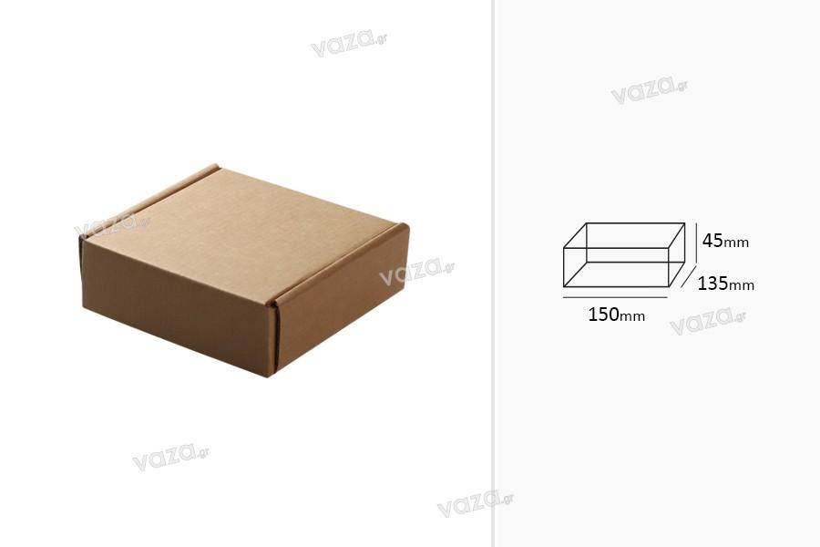 Κουτί συσκευασίας 150x135x45 mm από χαρτί κράφτ - 20 τμχ