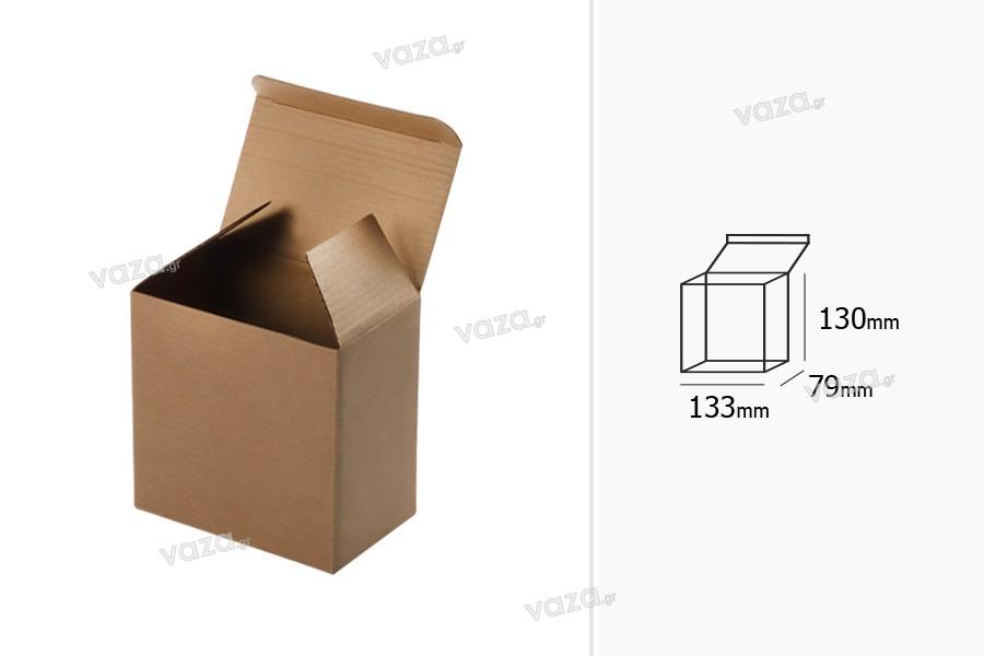 Boîte d'emballage 133x79x130 mm en papier kraft - 20 pièces