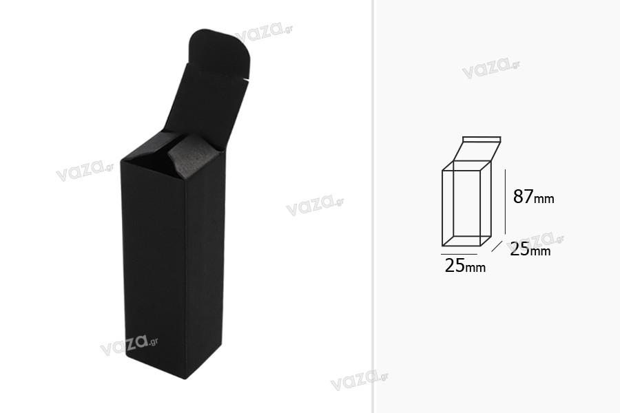Κουτάκι χάρτινο μαύρο 25x25x87 - 50 τμχ