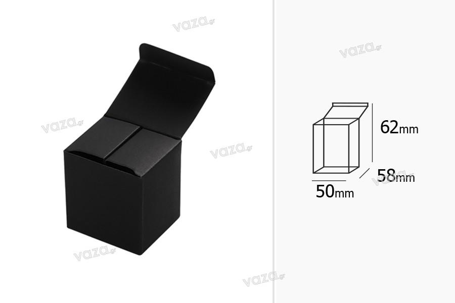Κουτάκι χάρτινο 50x58x62 σε μαύρο χρώμα - 50 τμχ