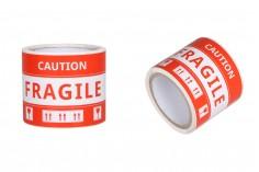 Αυτοκόλλητα Fragile (εύθραυστο) 15x8,5 cm - πακέτο 100 τμχ
