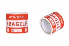 Αυτοκόλλητα Εύθραυστο (Ιταλικά) 15x8,5 cm - πακέτο 100 τμχ