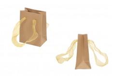 Τσάντα δώρου 80x50x110 χάρτινη, κραφτ με κορδόνι - 20 τμχ