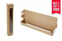 Κουτάκι χάρτινο κράφτ με παράθυρο 80x60x500 mm - 20 τμχ