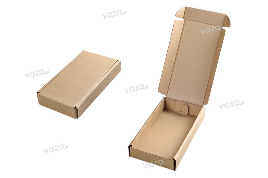 Κουτί συσκευασίας από χαρτί κραφτ χωρίς παράθυρο 100x180x30 mm - 20 τμχ