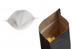 """Σακουλάκια κραφτ τύπου Doy Pack, με κλείσιμο """"zip"""", παράθυρο και δυνατότητα σφράγισης με θερμοκόλληση 120x40x180 mm - 100 τμχ"""