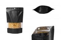 """Σακουλάκια αλουμινίου τύπου Doy Pack, με κλείσιμο """"zip"""", παράθυρο και δυνατότητα σφράγισης με θερμοκόλληση 160x40x240 mm - 100 τμχ"""