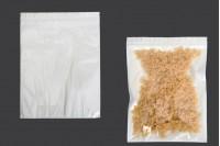 Sacs en plastique 260x340 mm avec fermeture à glissière, dos blanc et devant transparent - 100 pièces