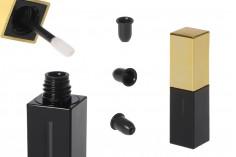 Θήκη για lip gloss 5 ml σε χρώματα μαύρο - χρυσό