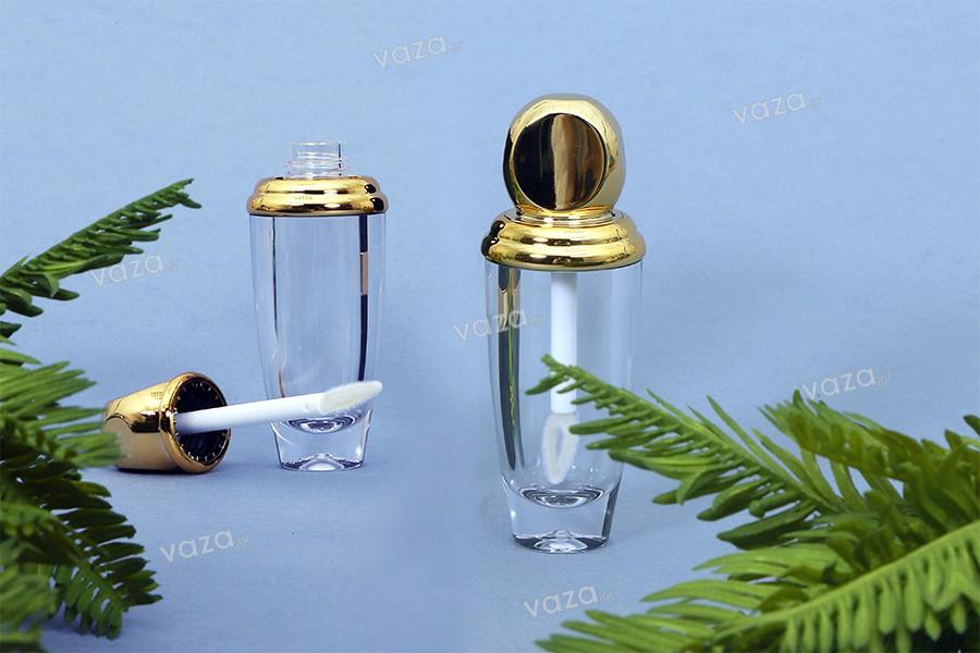 Θήκη για lip gloss 10 ml σε χρώματα διάφανο - χρυσό