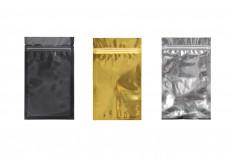 """Σακουλάκια αλουμινίου με κλείσιμο """"zip"""" 120x200 mm, διάφανη μπροστά πλευρά και δυνατότητα σφράγισης με θερμοκόλληση - 100 τμχ"""