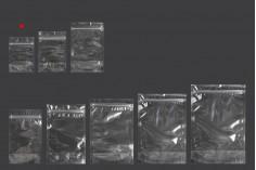 Σακουλάκια τύπου Doy Pack 90x30x130 mm διάφανα με κλείσιμο zip και δυνατότητα σφράγισης με θερμοκόλληση - 100 τμχ