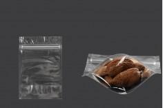 Σακουλάκια τύπου Doy Pack 100x30x150 mm διάφανα με κλείσιμο zip και δυνατότητα σφράγισης με θερμοκόλληση - 100 τμχ