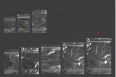 Σακουλάκια τύπου Doy Pack 200x50x295 mm διάφανα με κλείσιμο zip και δυνατότητα σφράγισης με θερμοκόλληση - 100 τμχ