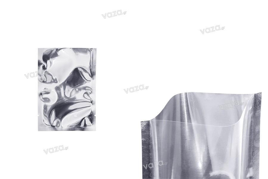 Σακουλάκια αλουμινίου 90x130 mm με δυνατότητα σφράγισης με θερμοκόλληση - 100 τμχ