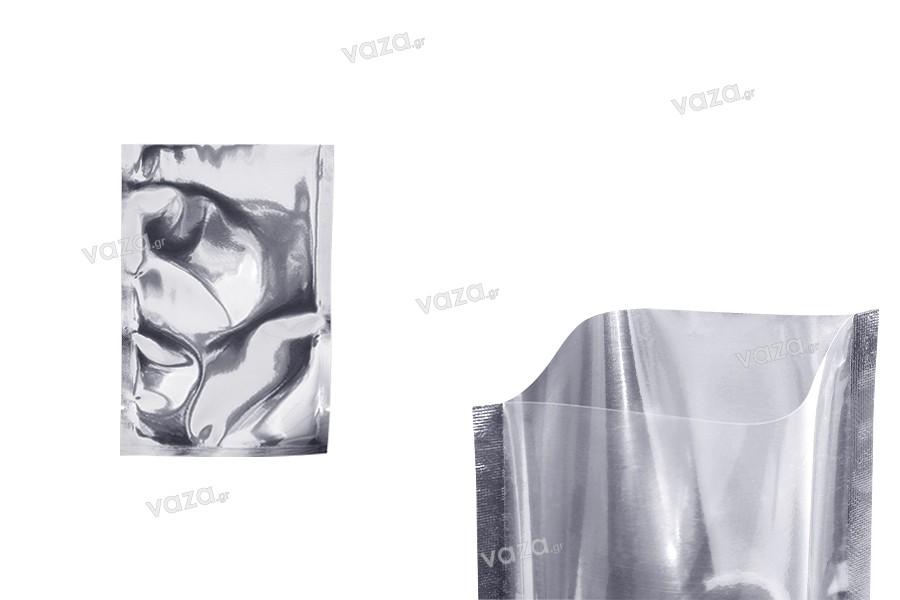 Σακουλάκια αλουμινίου 100x150 mm με δυνατότητα σφράγισης με θερμοκόλληση - 100 τμχ