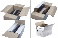 Χαρτοκιβώτιο 32x24x17 λευκό 3-φυλλο, για 6 φιάλες 700ml ή 750ml