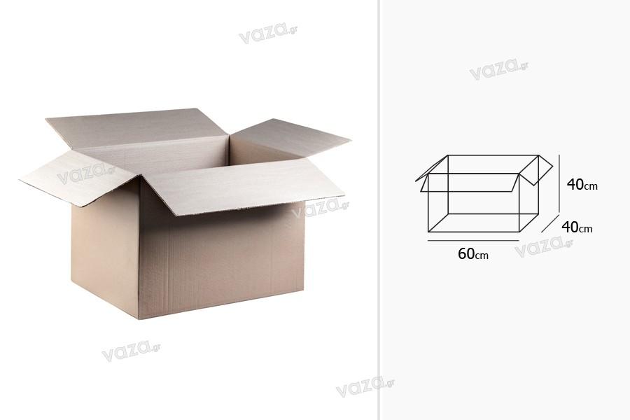 Χαρτοκιβώτιο 60x40x40 καφέ 3-φυλλο (για 48 φιάλες 750ml) - 15 τμχ