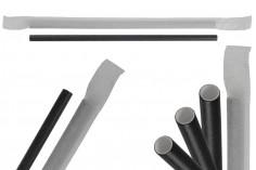 Καλαμάκια χάρτινα, οικολογικά 180x62 mm σε μαύρο χρώμα - 100 τμχ (ατομική συσκευασία)