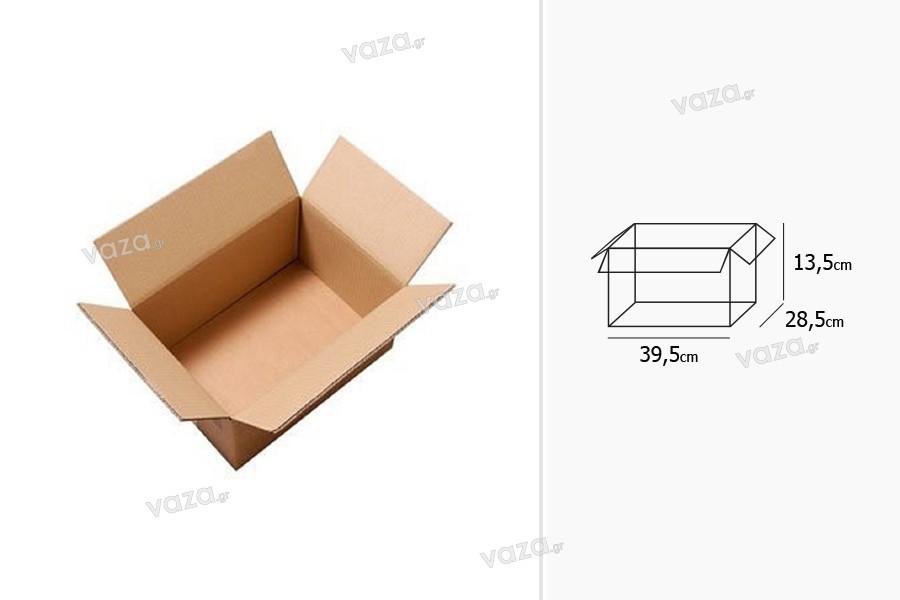 Χαρτοκιβώτιο 39,5x28,5x13,5 καφέ 3-φυλλο - 20 τμχ