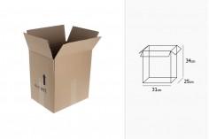 Χαρτοκιβώτιο 31x25x34 καφέ 3-φυλλο, για 4 δοχεία ελαιολάδου 5000 ml - 25 τμχ