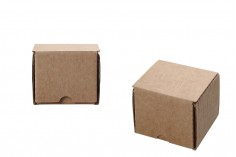 Χάρτινο κουτί 4x4x4 cm καφέ - 5 τμχ